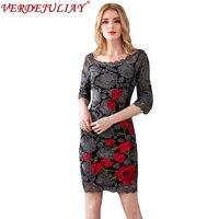 Sexy Dresses Women Summer 2019 New Fashion Mesh Flowers Embroidery Elegent High Quality Black Hot Mini European Plus Size Dress