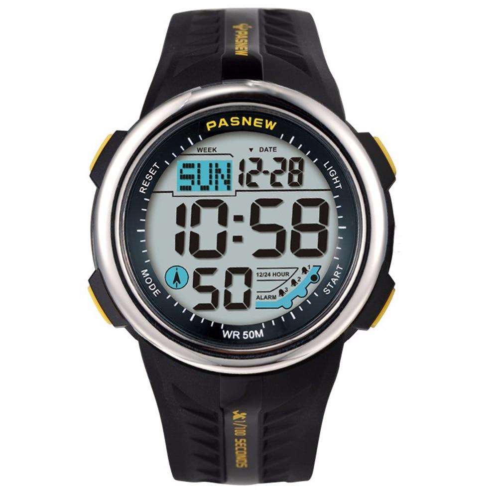 PASNEW часы мужские профессиональные спортивные часы модные светодиодные цифровые часы электронные часы reloj digital hombre relogio masculino|Цифровые часы|   | АлиЭкспресс