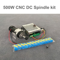 cnc 500W  spindle Motor  air cooled + spindle speed power converter +52mm clamp +13pcs er11 collet for DIY engraving|Machine Tool Spindle|   -
