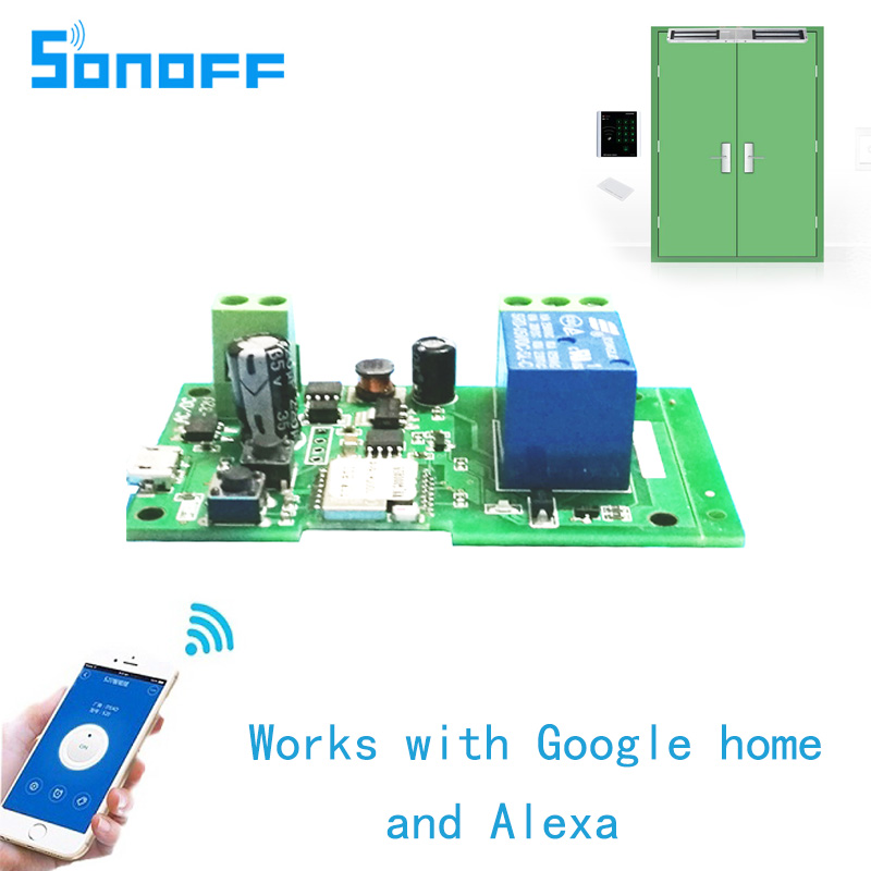 Sonoff wifi switch wireless Relay module Smart home Automation for Computer access dc5V/12v 24v 32v Inching/Self-Locking IOS sonoff for ios android usb 5v diy 1 channel jog inching self locking wifi wireless smart home switch app remote control module