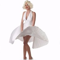 Adulte Sexy Deluxe Marilyn Monroe Dress Costume Summer Party Robes Vestidos Femininos