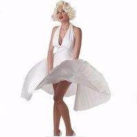 Adult Sexy Deluxe Marilyn Monroe Dress Costume Summer Party Dresses Vestidos Femininos