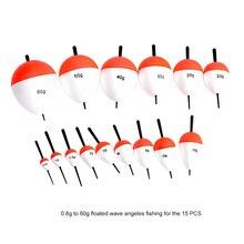 15/10/8/6pcs/Set EPS Fishing Floats Set 0.8g-60g Sea Fish Float with Sticks Pesca Fishing Tackle Accessory