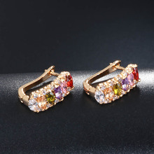 Flower Studded Marquise CZ Formed Zircon Stone Earrings