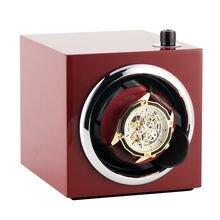 Красный Портативный с автоматическим заводом часов тихий двигатель коробка вращающиеся часы держатель шейкер коробки для самообмотки механические часы