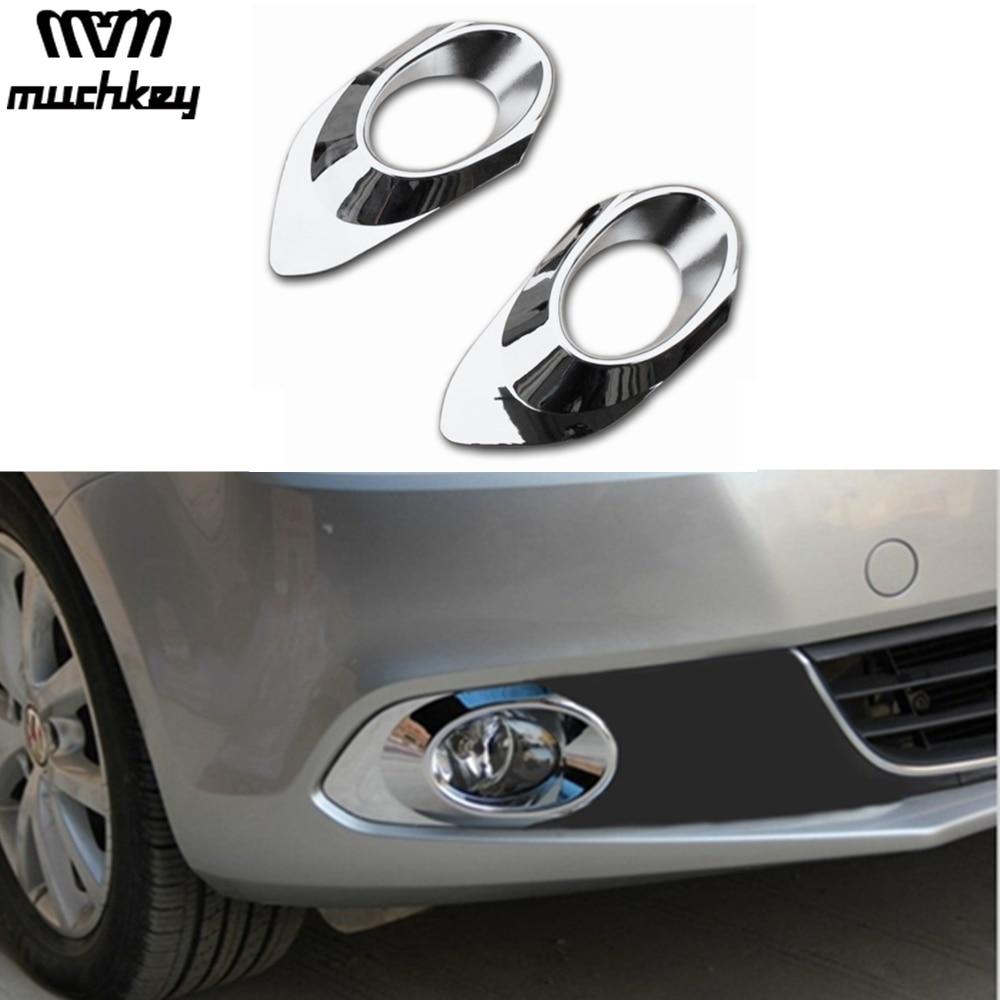 Fit For Volkswagen VW Jetta MK6 2012 2013 2014 ABS Chrome Trim Front Fog Lamp Cover For Jetta MK6 Auto Accessories 2Pcs Per Set