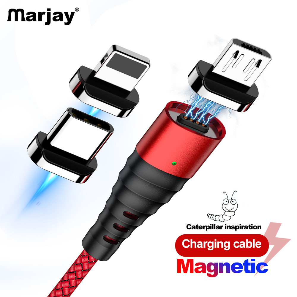 Marjay Magnetic Charge <font><b>Cable</b></font> Micro USB <font><b>Cable</b></font> For iPhone 7 8 X XS MAX Magnet Charger USB Type C <font><b>Cable</b></font> 3A Fast Charging Wire Cord image