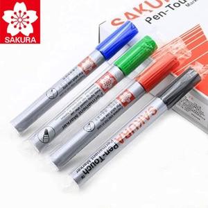 Image 5 - 8 Pcs Sakura Wasserdichte Zeichen Universal Permanent Öl Basis Marker Stift Kopf Farbe Lauffläche Haken Linie Durable Sicherheit Japan