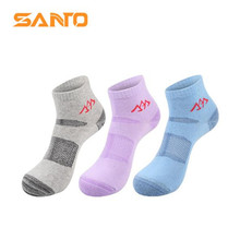 3 Pairs SANTO S003 Outdoor Cotton Socks Womens Sports Quick Dry Spring Summer Fit to Size 35-38