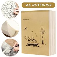A4 Notebook Blank Inner Page Graffiti Draft Sketchbook Thickened Beige Paper for Sketching Note Painting 40 Pages 10pcs 30 page creative 80g kraft paper notebook blank page sketchbook car line printing traveler notebook various styles