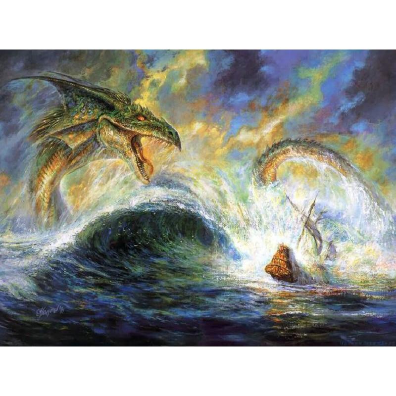 Y239 YIKEE Flood dragon diamond painting,5d diamond painting new arrivals,cross stitch diamond