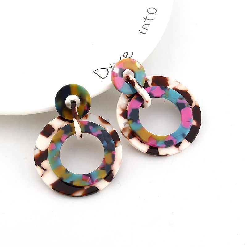 LMIKNI Acrylic Earrings For Women Geometric Resin Drop Dangle Earrings 2019 Fashion Female Earrings Party Jewelry Za Brincos