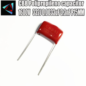 14PCS 1600V 1.6KV 332J 0.0033uF 3.3nF P15 Polypropylene film capacitor pitch 15mm