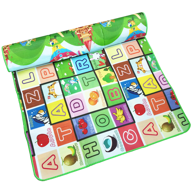 LUCKY TEXTILE 0.5cm double side play mat baby Children crawling mat <font><b>learn</b></font> developing letter rug animal <font><b>farm</b></font> forest fruit <font><b>carpet</b></font>
