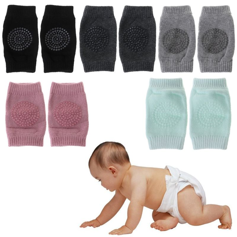1 Pairs Baby Knee Protector Pads Non Slip Safety Crawl Training Kid Elbow Cushion