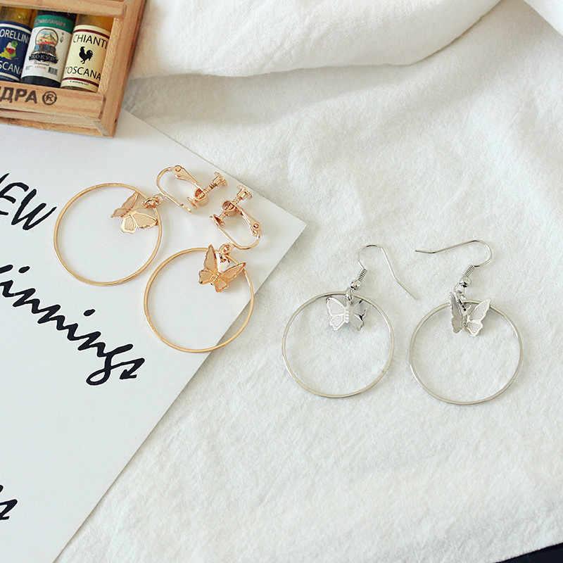 Ear Cuff Clip On Earrings Without Piercing For Women Butterfly Earings Fashion Jewelry 2018 Earring Cuffs No Pierced Aliexpress