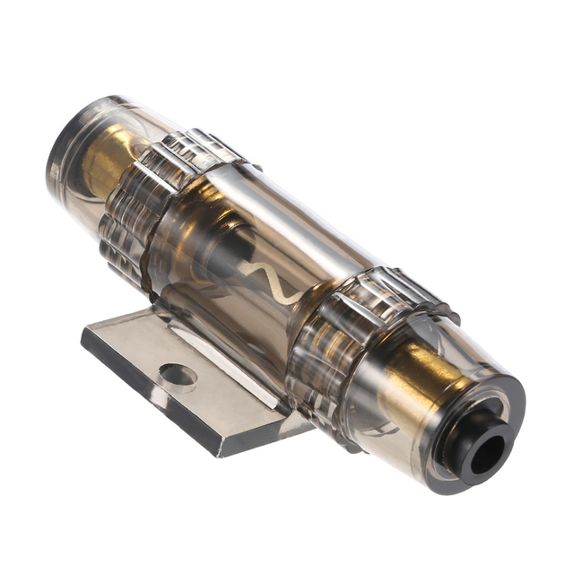 IMC Audio 60 Amp Inline AGU Fuse Holder Fits 4 8 10 Gauge Wire gray ...