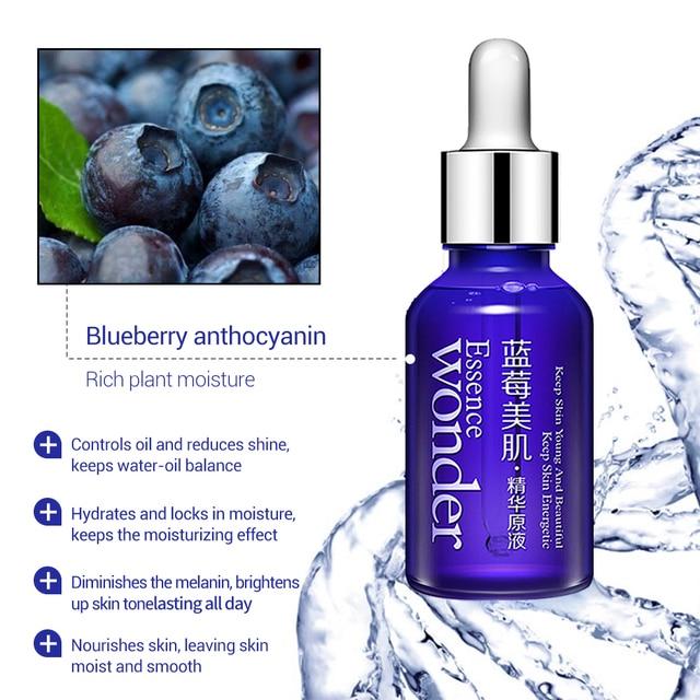 BIOAQUA Bleuets Hyaluronique Sérum Acide Liquide Soins de La Peau Anti-Rides Collagène Essence Soins Du Visage Blanchissant Huile Hydratante 3