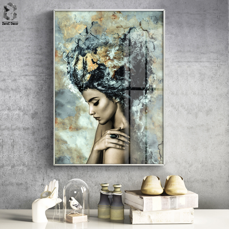 Fashionable Marble Lady Posters and Prints Wall Artwork Canvas Portray Nordic Image Dwelling Ornament for Residing Room Ornamental Portray & Calligraphy, Low-cost Portray & Calligraphy, Fashionable Marble Lady Posters...