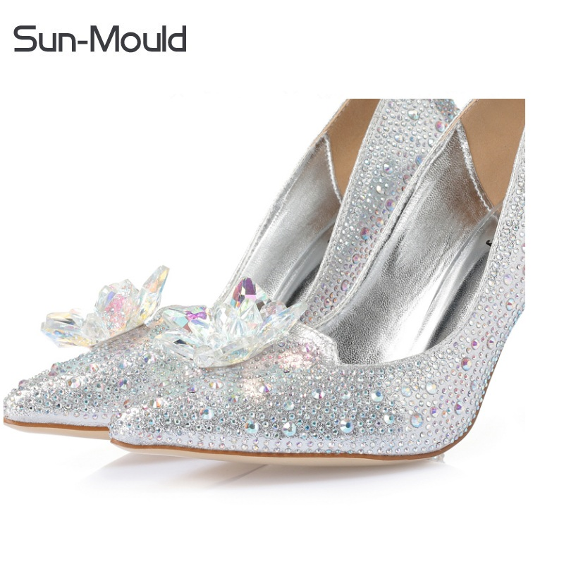 Rhinestone crystal shoes flower clips High Heels sandal flats woman  Pumps Wedding Shoes charms flower clips 1pair/lot