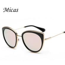 2016 classic gg Brand Cat Eye sun glasses women designer Mirror Sunglasses men Twin-Beams Stylish vintage sunglass oculos UV400