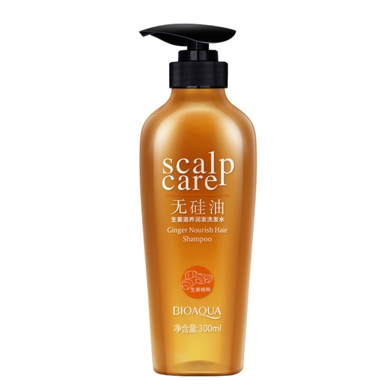Ginger Extract Nourishing No Silicone Oil Anti-itch Shampoo Refreshing Oil Control Deep  ...