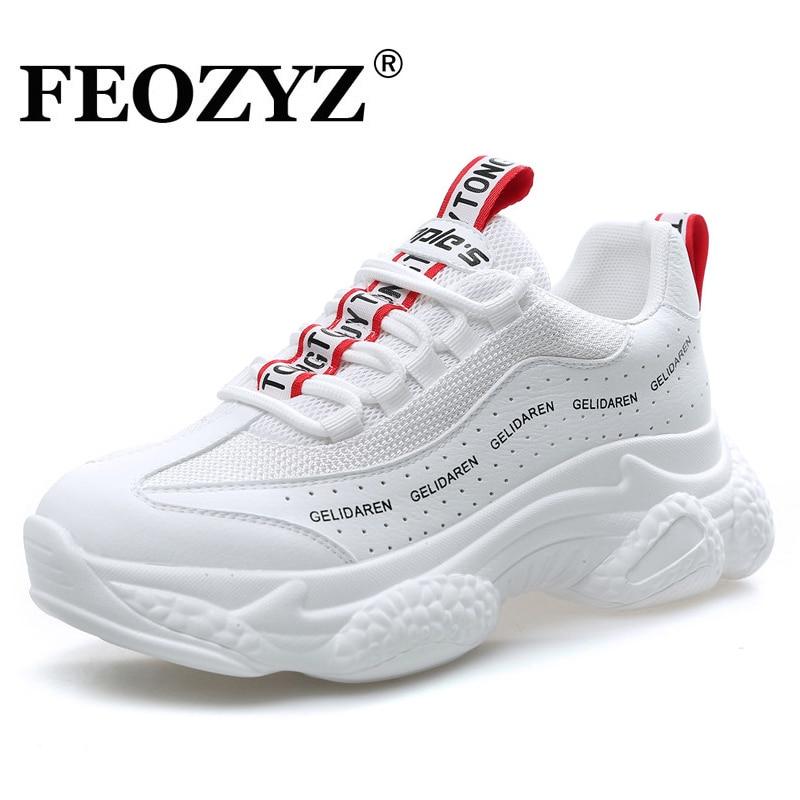 FEOZYZ 2018 Neue Herbst Neue Laufschuhe Für Frauen Atmungsaktive Sport Schuhe Frau Plattform Turnschuhe Zapatillas Hombre Deportiva