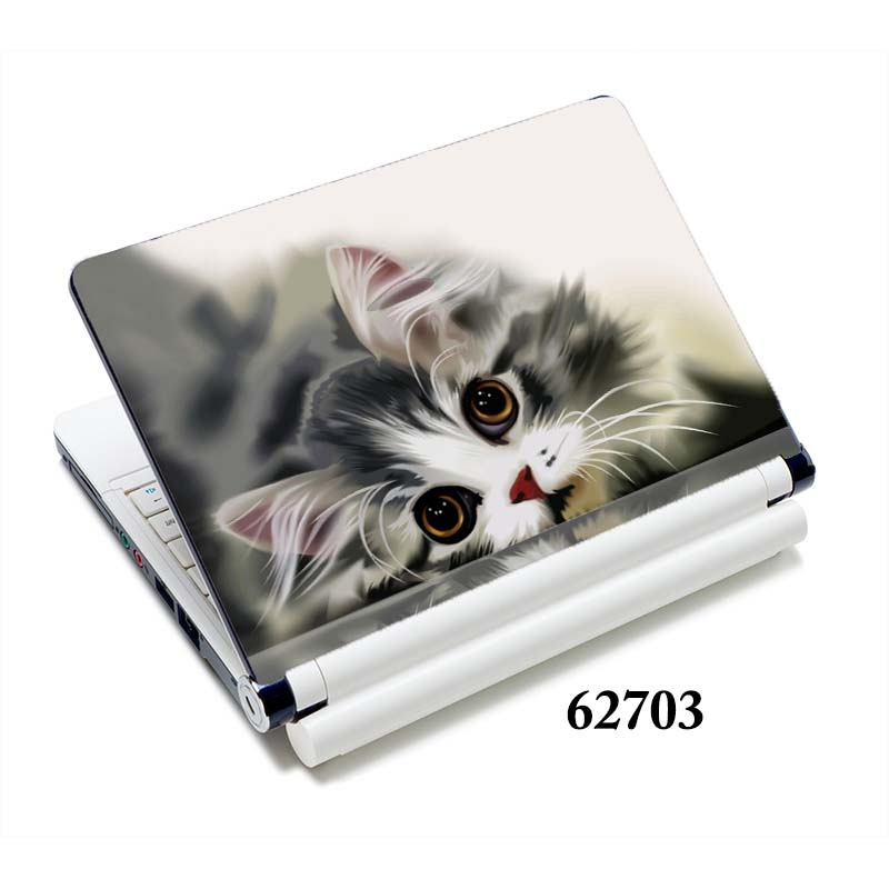cat laptop sticker notebook skin covers 131515.6 for macbook/ acer computer accessories / hp