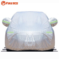 Multi Size Sliver Aluminium Waterproof Anti UV Outdoor Indoor Shield Full Car Cover For Saloon Hatchback