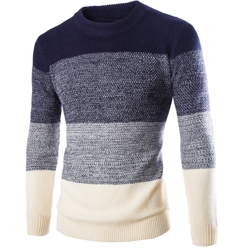8527a51ee36 New Arrival Mens Stripe Sweater O Neck christmas sweater Brand Clothing Men  Pullover High Quality Slim fit Knitting Sweater men-in Pullovers from ...