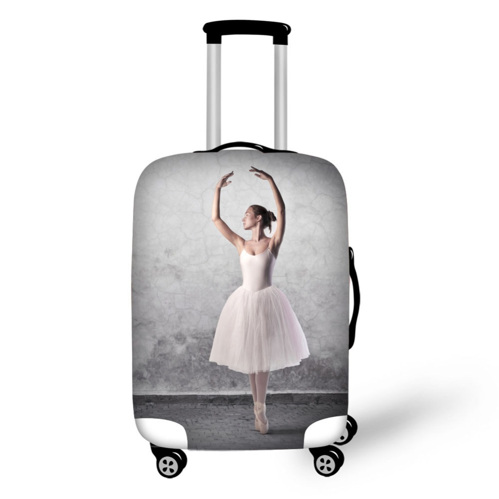 Ballet Dancer Design Prints Covertravel Accessories Luggage Covers  High Elastic Fabric Covers Protective Covers For Suitcases