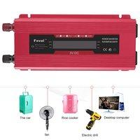 Car Solar Inverter 12V to 230V Digital Sine Wave Display Converter AU Type Overload Protection Digital Sine Wave Converter