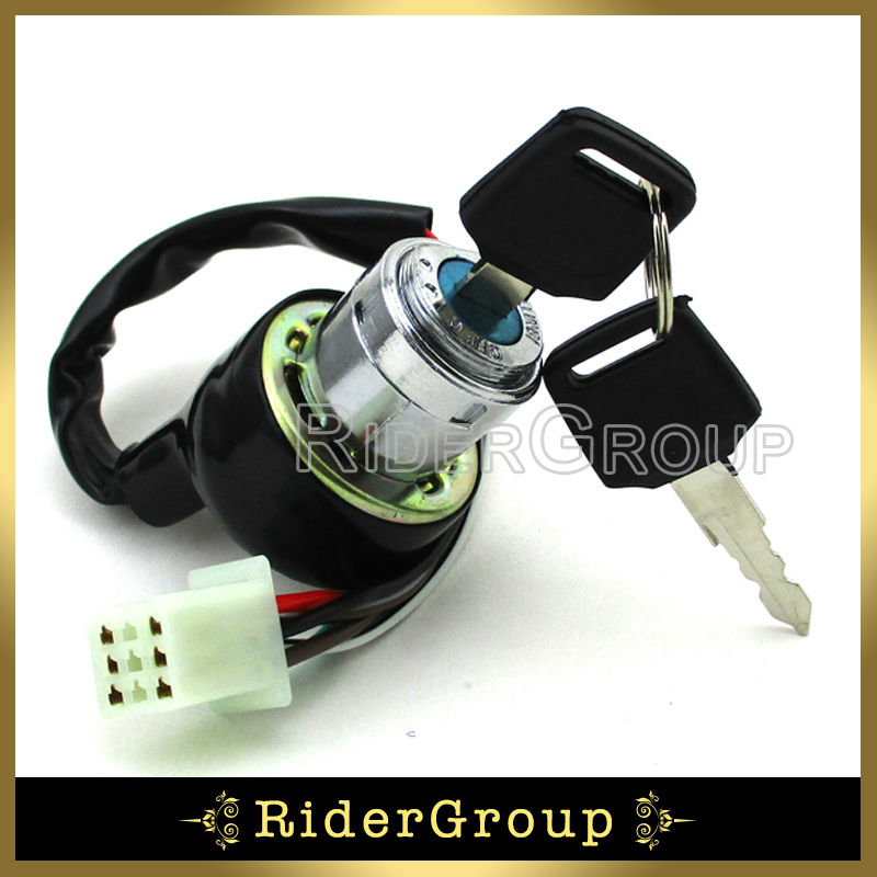 US $7.48 10% OFF|6 Pins Wires ATV On Off Lock Ignition Key Switch For on chinese atv wiring, kazuma 250 wiring diagram, suzuki 250 atv wiring, kazuma atv wiring diagram,