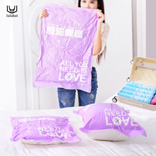 купить luluhut 2 pcs/lot vaccum compressed bag hand roll compression storage bag travel clothing luggage bag vacuum bags for clothes по цене 346.5 рублей