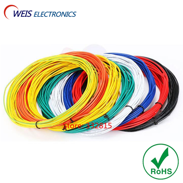 10 meter UL1007 #26 AWG PVC elektronische linie kabel kupfer draht ...