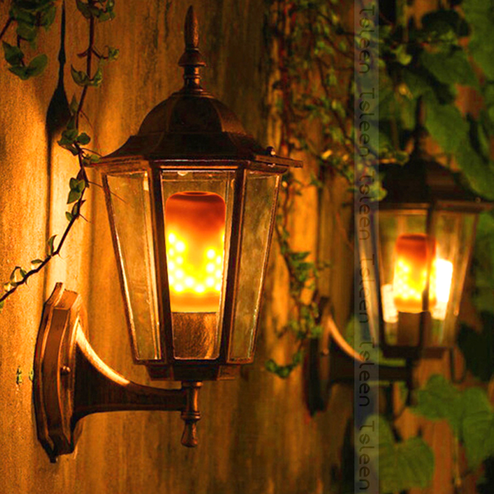 3 MODES 4PCS E27 E14 2835 LED Flame Effect Fire Light Bulbs 5W Creative Light Lamp Flickering Emulation Decorative Lantern Retro