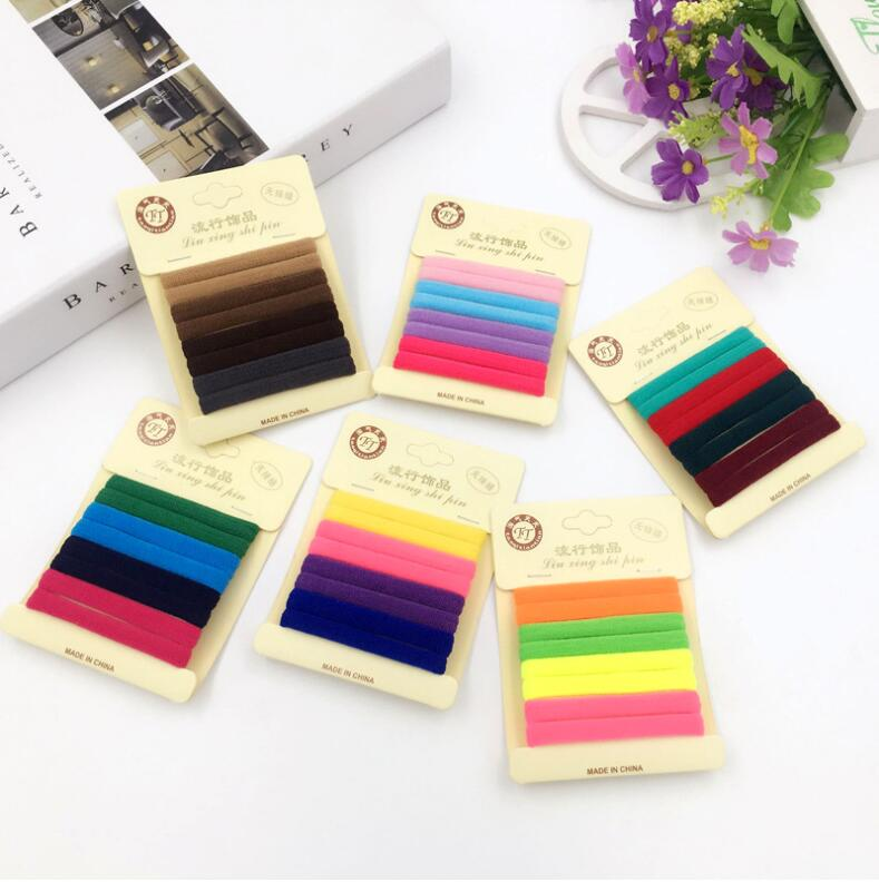 8 PCS Colorful Rubber Bands For Hair Brown Black Ties Gum Hair Accessories Ponytail Holders Elastic Hair Bands For Women Girls
