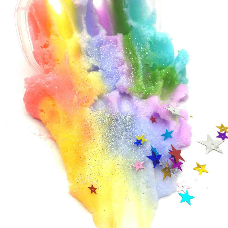 雪のように泥興味深いdiyスライム解凍のおもちゃ虹カラフルスライム抗ストレスおもちゃキッズギフト