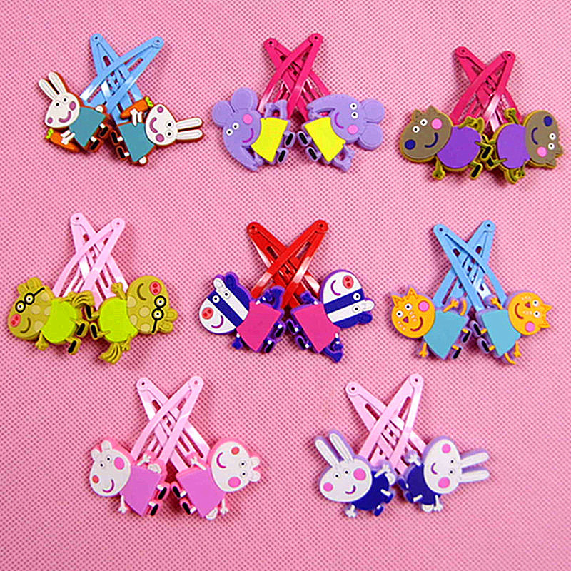 Dolls & Stuffed Toys Loyal 2pcs/lot 2019 New Childrens Doll Accessories Hair Accessories Girl Headwear Hairpin Pvc Jewelry Paint Clip Elegant Appearance Toys & Hobbies