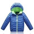 2016 New Winter Jacket For Girls Boys Hooded Collor Coats Children's Solid Thick Thermal Parkas Kids Cotton Clothes 4-11Y SC565