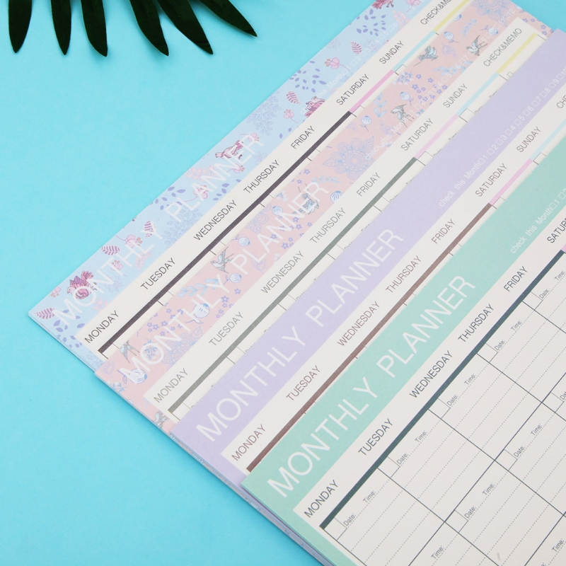 Office & School Supplies Dynamic Monthly Paper Pad 20 Sheets Diy Planner Desk Agenda Gift School Office Supplies To Be Distributed All Over The World
