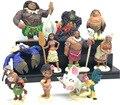 8-12 cm 10 unids/set Película Moana Princesa Encantadora Maui Moana Heihei Animación Figuras de Acción