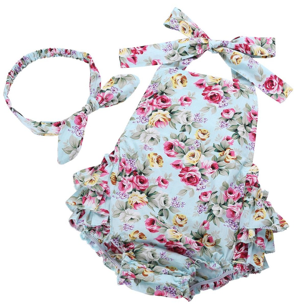 Summer newborn baby girl clothes infant suspenders ropa de ...