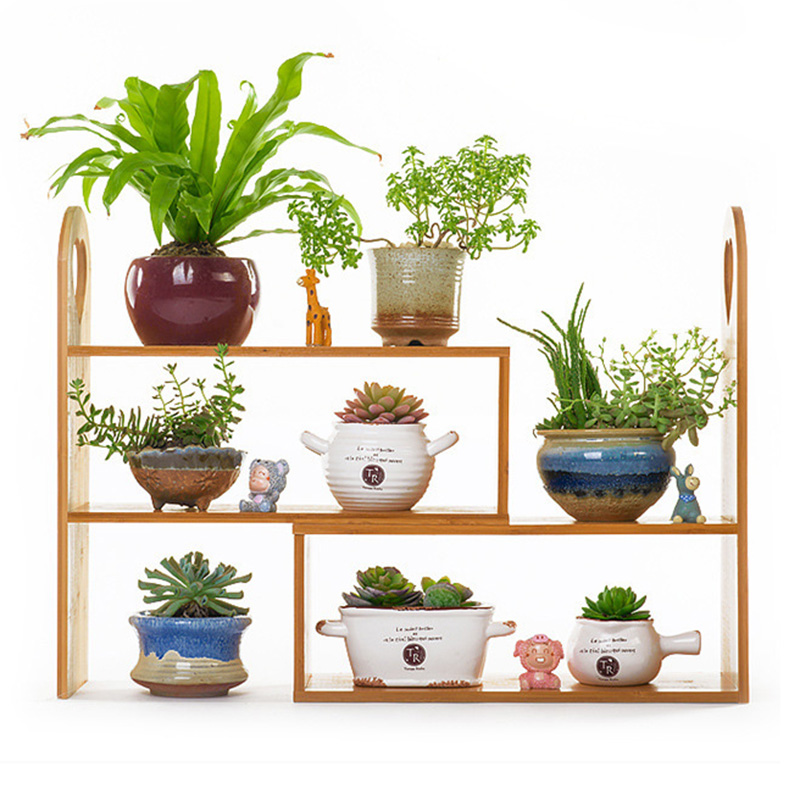 office book shelf. diy bamboo flowerpotbook shelf creative flowerstand storage holders home office decoration potted book