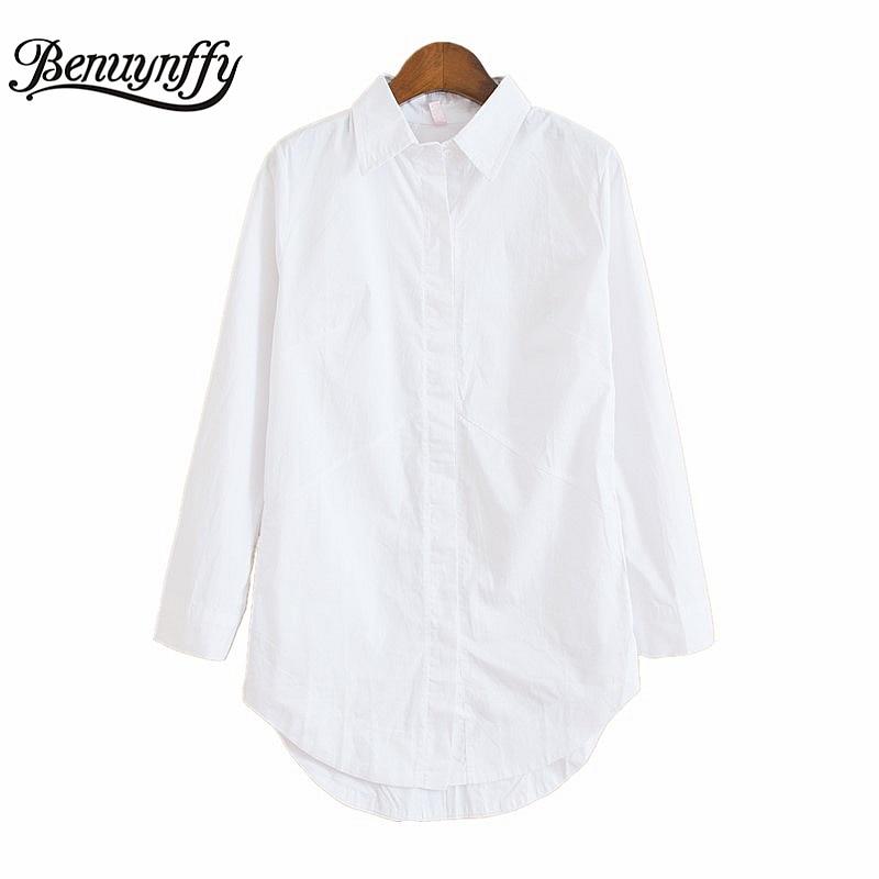2017 Spring White Women Blouses Long Sleeve Plus Size Ladies Office Shirts Fashion Autumn Casual Pocket Design Women Tops X901