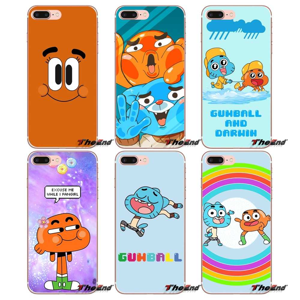 0cea55f824 Silicone Covers Amazing World Gumball Darwin For Huawei Honor 7X V10 6C V9  6A Play 9