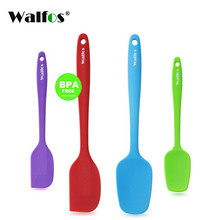 WALFOS set of 4 Heat Resistant Silicone Cooking Tools Non-stick Spatula Spoon Turner Accessories Baking Kitchen Utensils