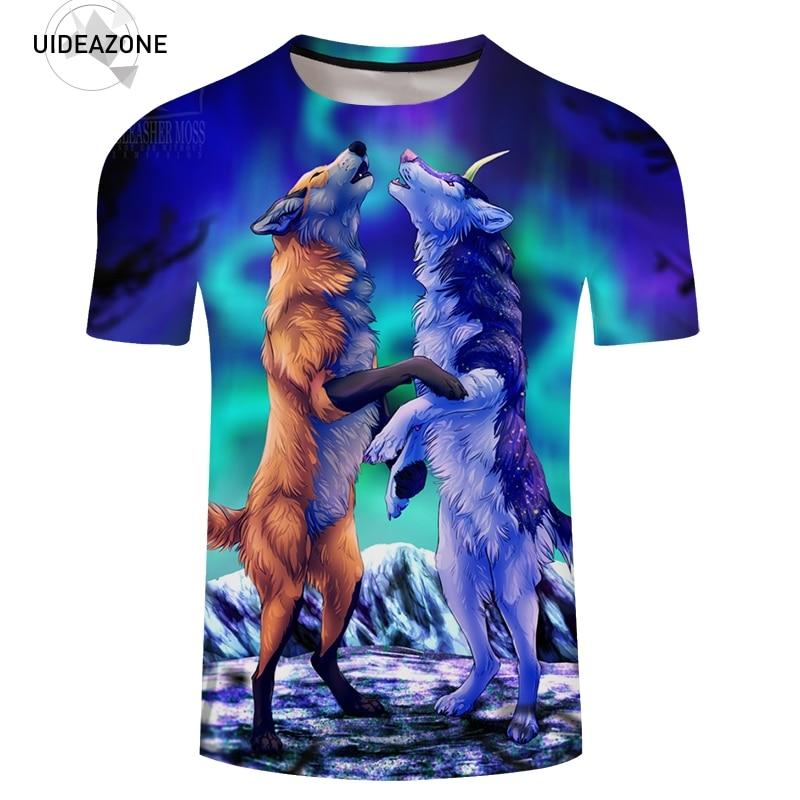 New T Shirt Men Women Husband Wife Animal Fox 3D T-shirts 2018 Summer Skateboard Tee Boy Hip Hop Skate Tshirt Graphic Tops