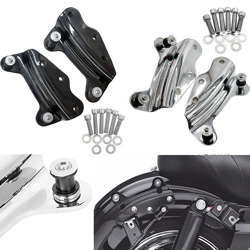 4 Point Docking Hardware Kit for Harley Davidson Touring Street Glide Road King FLHT FLHX FLTR models 2009 2010 2011-2013 PARTS motorbike parts saddle shield heat deflector for harley touring road king street glide trike flht fltr flhr 2009 2016 chrome