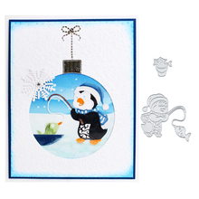 Julyarts Penguin Fishing Metal Cutting Dies Stencils for DIY Scrapbooking Die Cuts Card Making